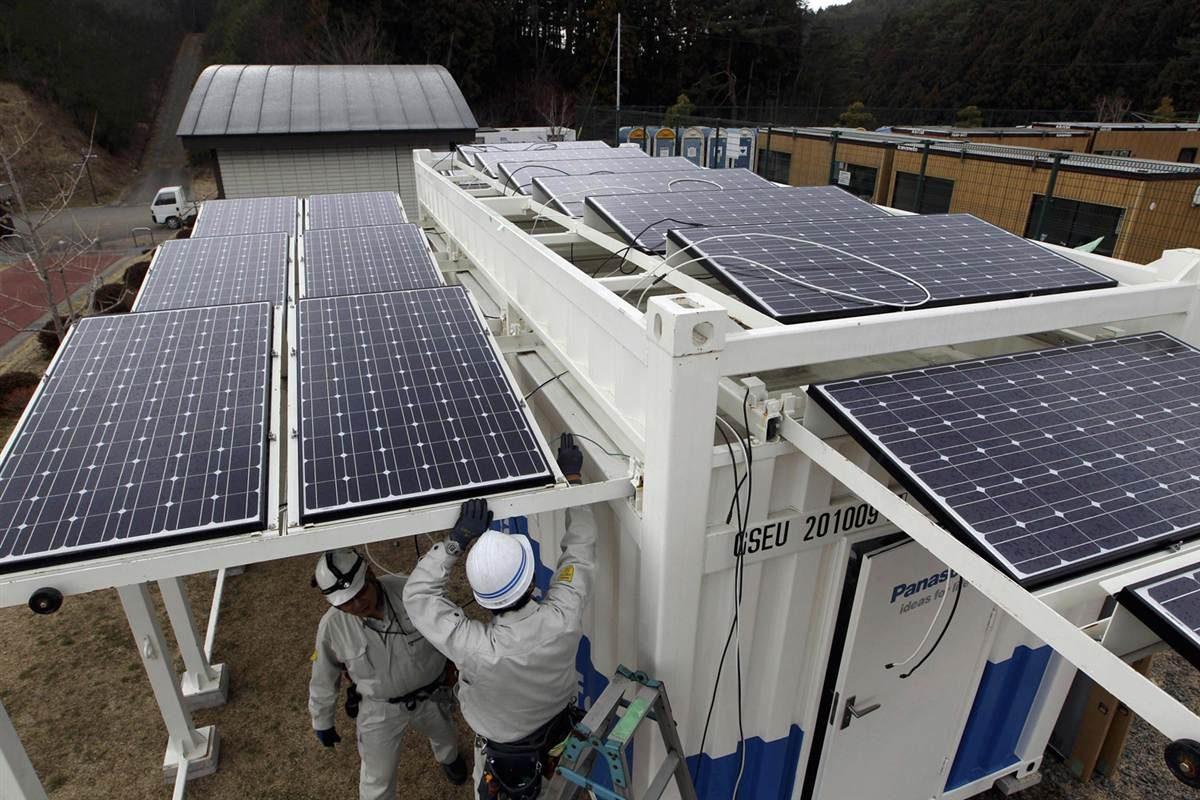Японский город устанавливает панели с солнечными батареями на случай стихийного бедствия