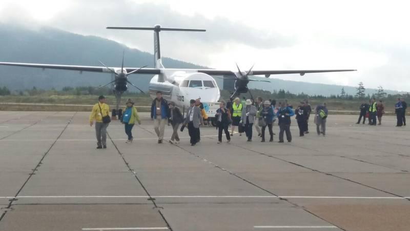 На Курильские острова впервые прибыл чартерный авиарейс из Японии