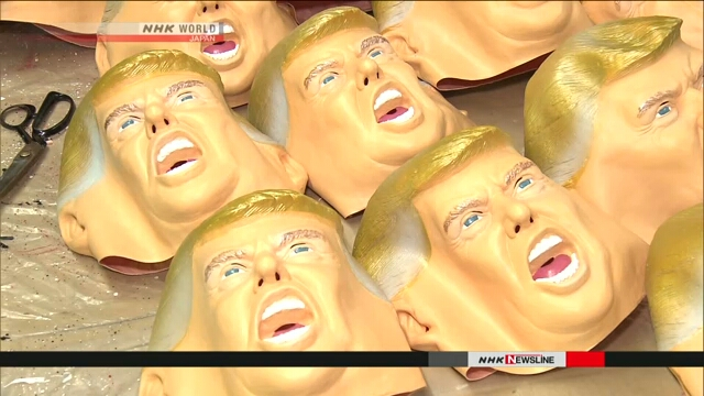 В Японии хорошо продаются маски Дональда Трампа