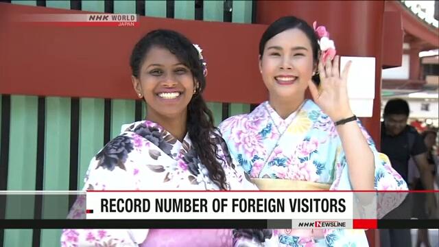 Количество иностранцев, посетивших Японию в этом году, достигло рекордной отметки