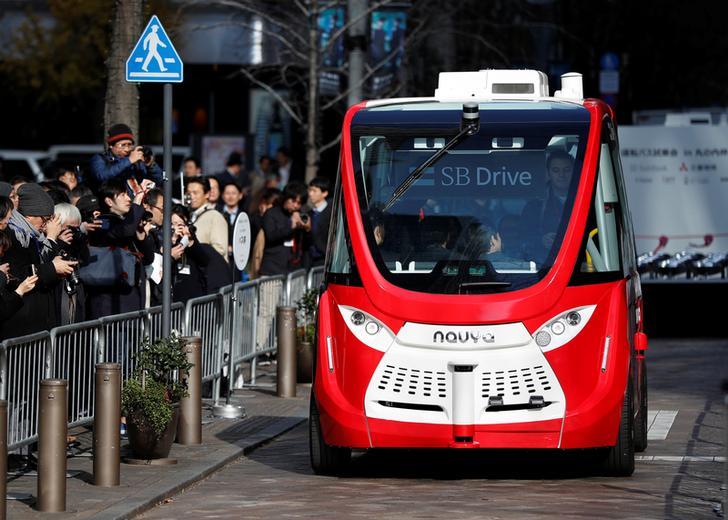 Самодвижущийся автобус Navya Arma в Токио