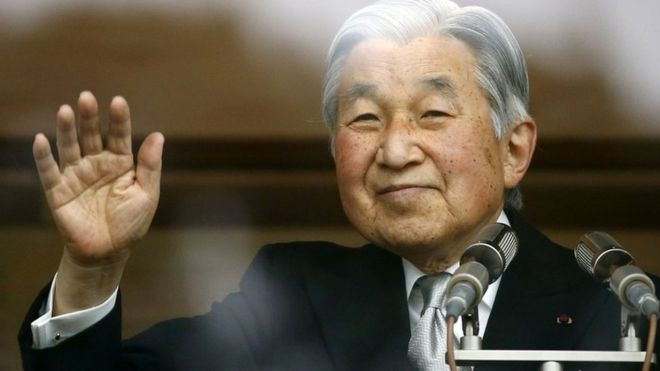 Тысячи японцев поздравили императора Акихито с Новым годом в Императорском дворце