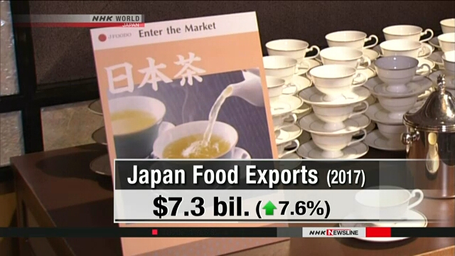 Объем экспорта в 2017 году в Японии достиг рекордного показателя