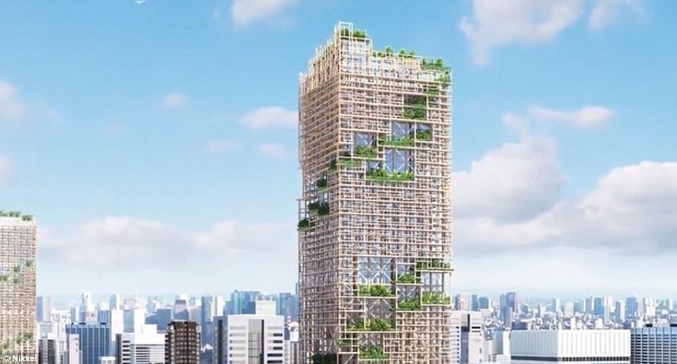 В Токио появится 350-метров деревянный небоскреб