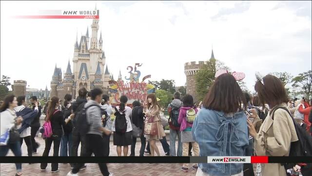 Токийский Диснейленд отметил 35-ю годовщину своего открытия