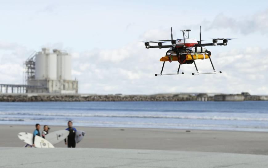 На западе Токио проведены испытания дронов для предоставления гуманитарной помощи