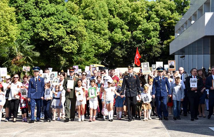 Акция «Бессмертный полк» второй год подряд проходит в Японии