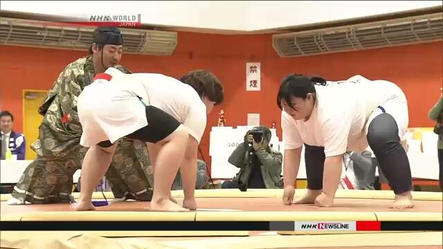 На Хоккайдо состоялся турнир сумо только для женщин
