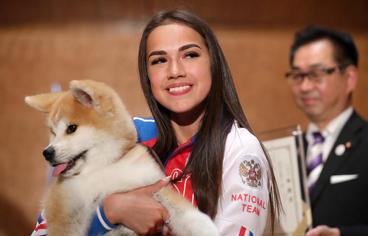 Церемония вручения щенка акита-ину олимпийской чемпионке Загитовой состоялась в Москве
