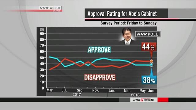 Кабинет Абэ по-прежнему поддерживают 38% населения