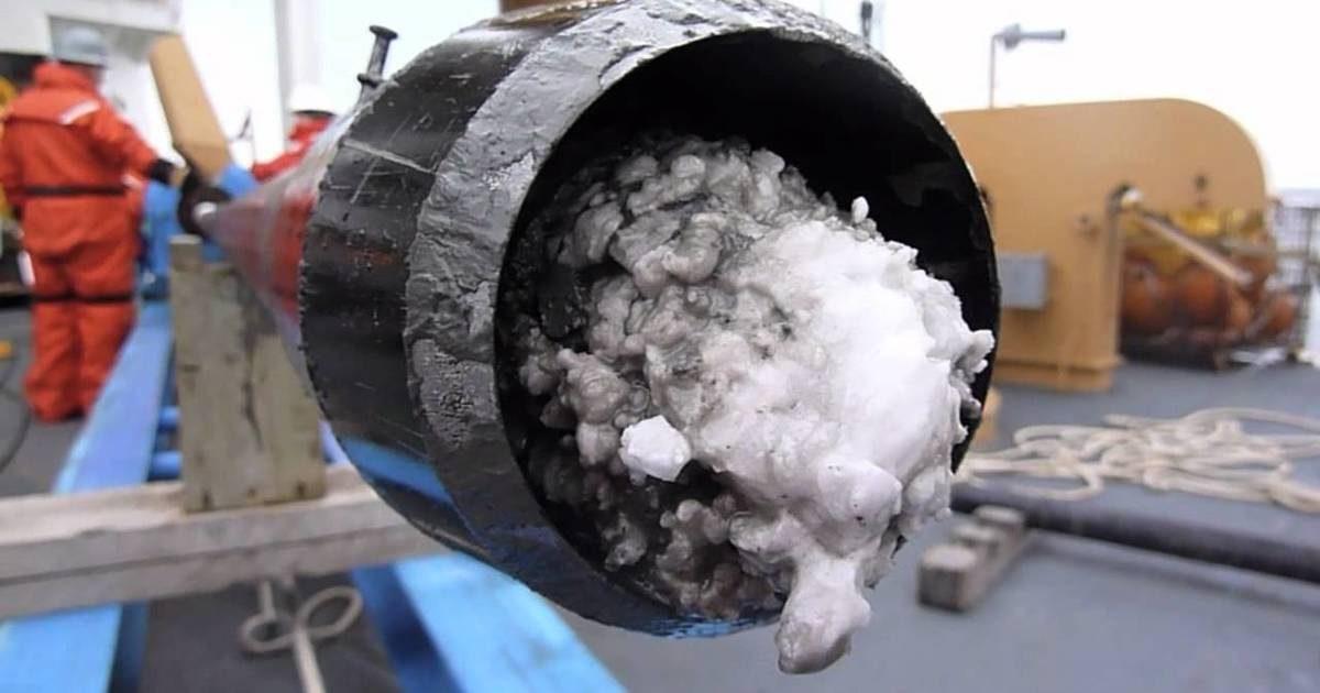 Японские исследователи обнаружили залежи гидрата метана