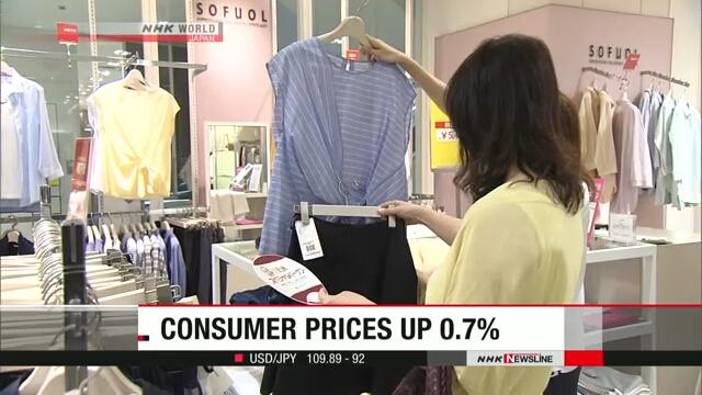 Потребительские цены в Японии продолжают расти