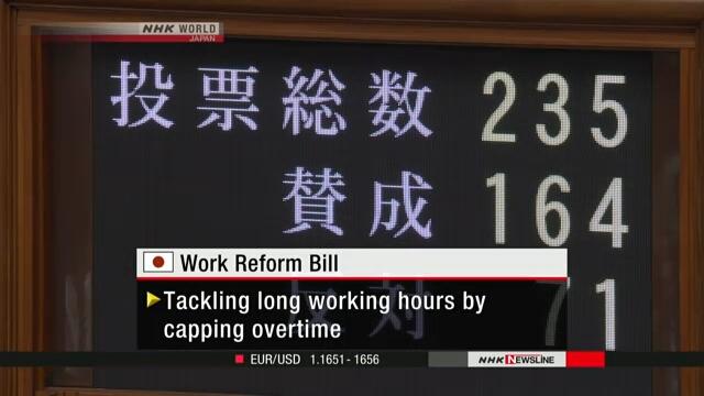 Парламент Японии принял закон о реформировании системы труда