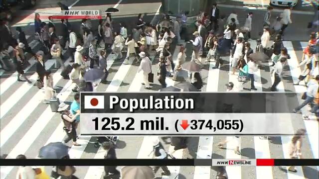Население Японии сокращается девять лет подряд