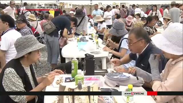 В городе Офунато на северо-востоке Японии состоялся фестиваль тихоокеанской сайры