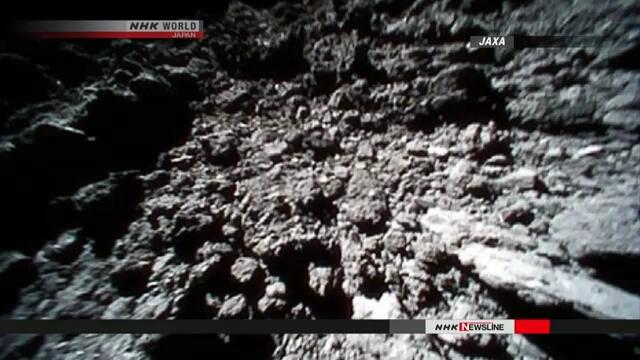 JAXA опубликовало снимки, сделанные роботами на поверхности астероида Рюгу