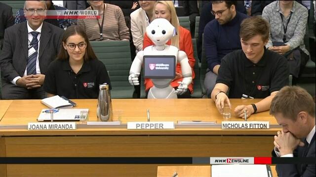 Японский робот впервые в истории выступил в британском парламенте