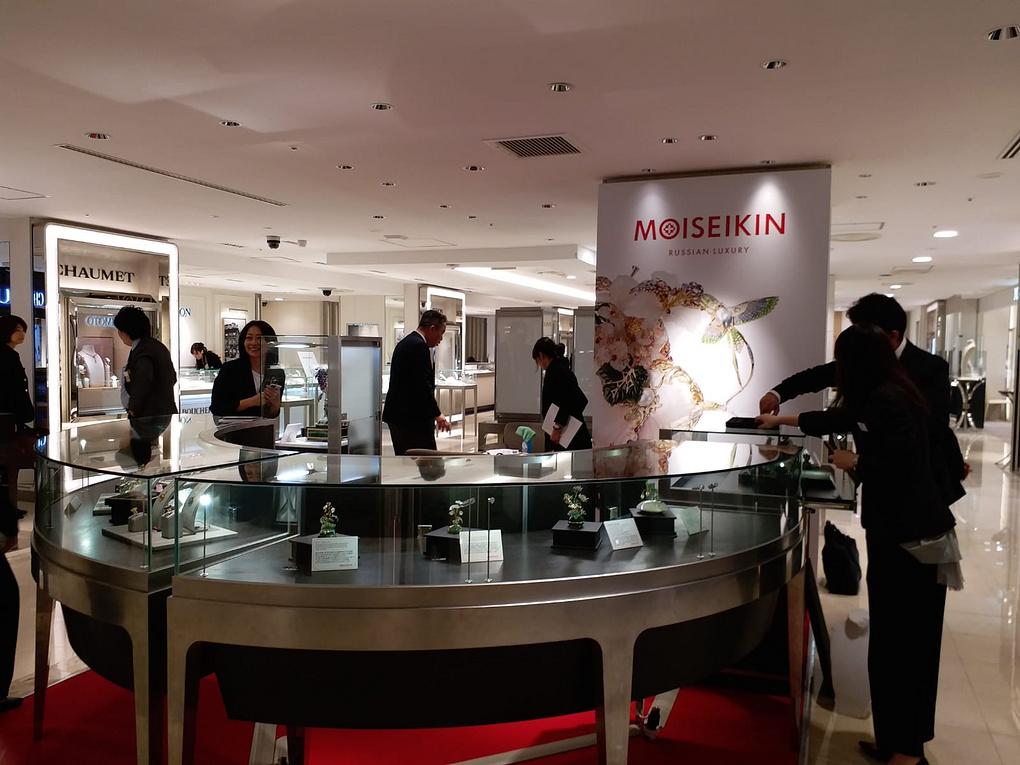 Российский бренд MOISEIKIN впервые экспонируется в знаменитом японском универмаге Isetan