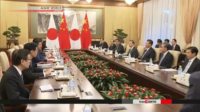 Синдзо Абэ и Си Цзиньпин договорились развивать отношения между Японией и Китаем