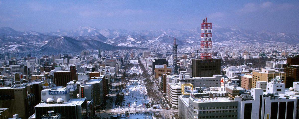 Первый снег в городе Саппоро выпал в рекордно поздний срок