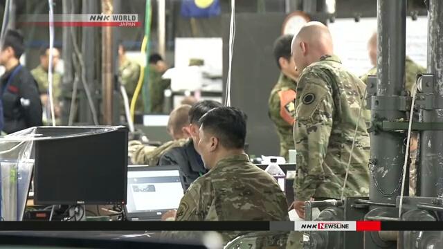 На севере Японии стартовали совместные японо-американские военные учения с компьютерным моделированием