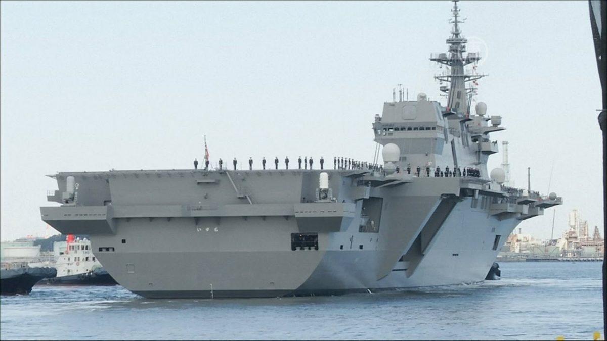 Абэ заявил, что оснащение ВМС Японии легкими авианосцами необходимо для самообороны