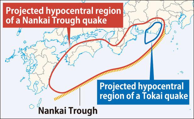 Правительство Японии намеревается разработать основополагающие правила на случай землетрясения в разломе Нанкай