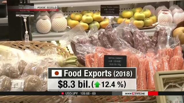В 2018 году экспорт японского продовольствия достиг рекордной отметки