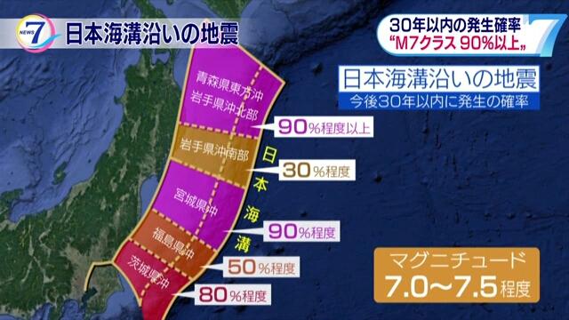 Комиссия: вероятность мощного землетрясения в Японском желобе составляет 90 процентов