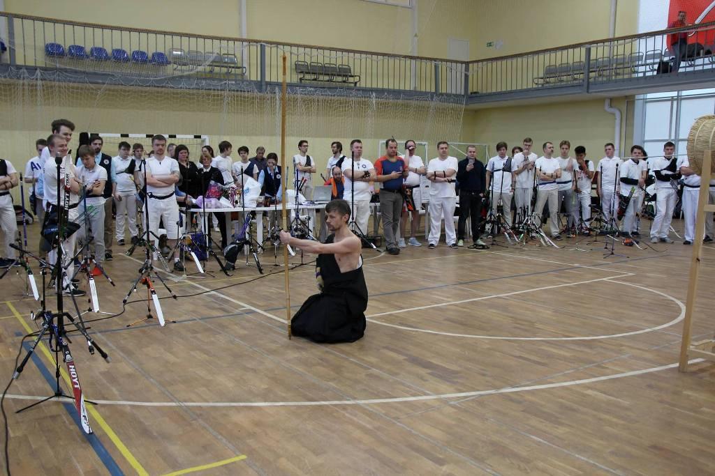 Демонстрация Кюдо на Кубке Санкт-Петербурга по стрельбе из лука (23-24.03.2019)