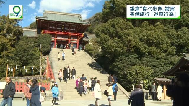 В японском городе Камакура запретили есть на ходу во время прогулки по туристическим местам