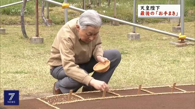 Император Японии посеял семена риса накануне своего ухода с трона