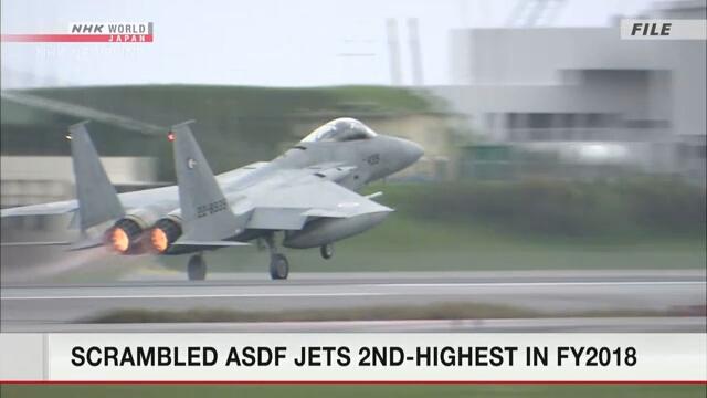 Число вылетов японских истребителей на перехват других самолетов стало вторым самым высоким в 2018 финансовом году