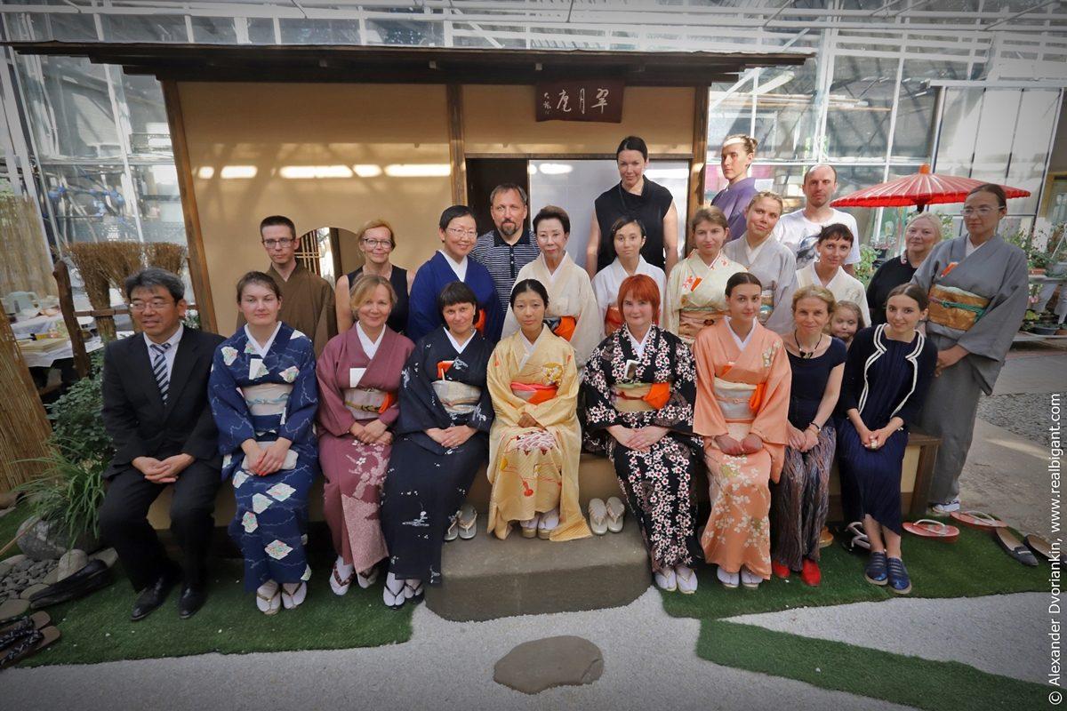 Церемония открытия чайного домика «Суйгэцуан» школы Омотэ Сэнке в Москве