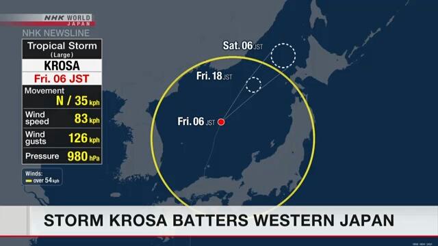 В Японии бушует тайфун