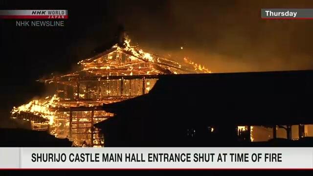Полиция расследует пожар в замке Сюри