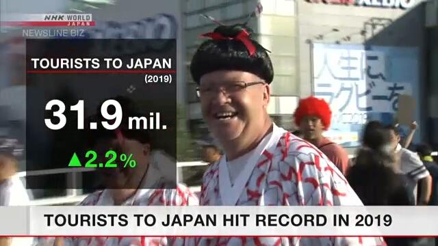 В 2019 году в Японии вновь было зафиксировано рекордное число туристов из-за рубежа