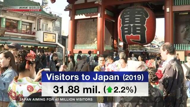 Япония рассчитывает принять 40 млн иностранных туристов в 2020-м году